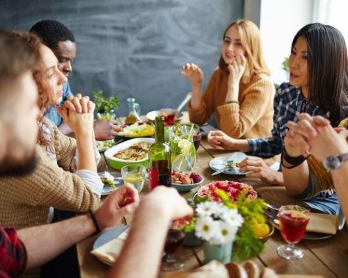 Diner entre amis sans gluten